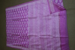 Block Printed Maheshwari Silk Saree