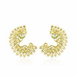 Golden Kundan Rajwadi Bead Ear Cuff