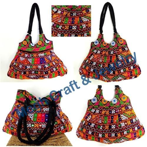 5723ba946c Handbag- Shoulder Bag - Kutch Embroidery Aari Work Indian Handbag -banjara  Tote Bag Wholesaler from Ahmedabad