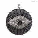 Evil Eye Charm Pave Pendant
