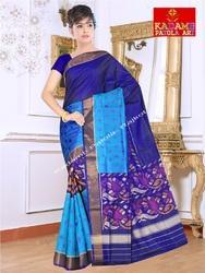 Cotton Festive Wear Fancy Patola Saree, With Blouse Piece