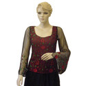 Ladies Embroidered Net Top