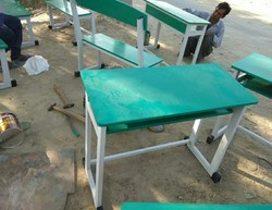 Green Iron Desk