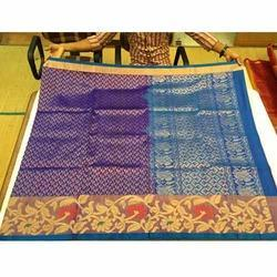 Wedding Wear Mysore Silk Brocade Sarees, 6 m (with blouse piece)