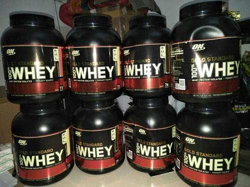 Optimum Nutrition & Muscle Tech Whey Protein, Packaging Type: Plastic Container