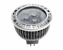 V4 Warm White MR 16 LED Spot Lamp for Indoor, Shape: Round