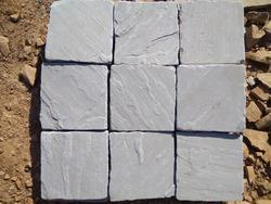 Kandla Grey Sandstone Cobbles with Tumbled Finish