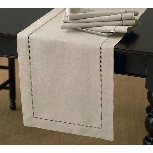 Off White Linen Table Runner Rs 180