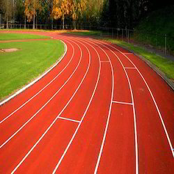 Athletic Track Flooring Services, Finish: Matte