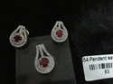 Red Stone Pendant Set