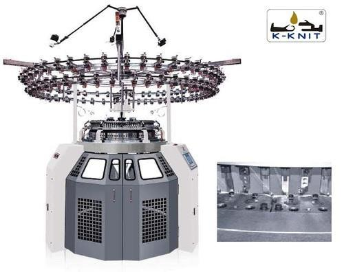 K-KNIT Single Jersey Circular Knitting Machine : 3 Thread Plating Fleece - KK-SF