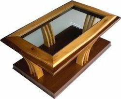 Glass and Wooden Center Table