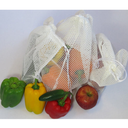 White And Yellow Chirantana Vegetable Net Bags
