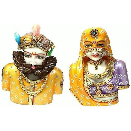 Marble Rajputi Couple MB155