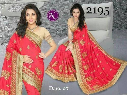 e494fe8f48c5d Red Half fine Zari Gold Silk Sarees