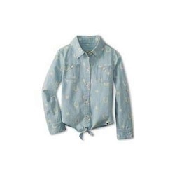 Regular Wear Printed Kids Cotton Shirt