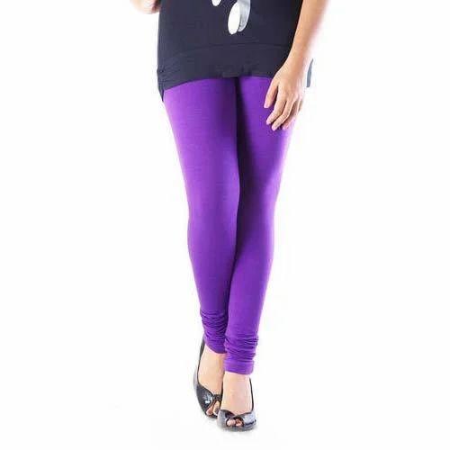 40faf51bab252 Churidar Plain Purple Ladies Leggings, Rs 150 /piece, Anita Fashions ...