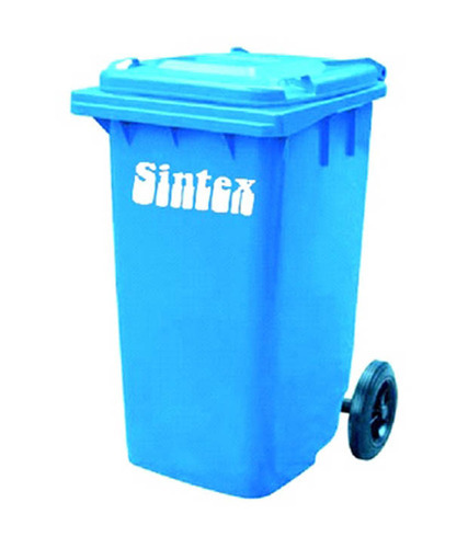 Plastic Open Top Wheeled Waste Bins, For Office,Public Place, Capacity: 90 L