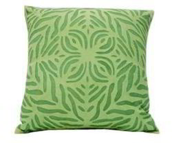 Multicolor Printed Organdi On Cotton Applique Cut Work Cushion Cover, Size: 18x18 Inch (45x45cm), Shape: Square