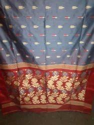 Tant Saree with Blouse Piece, Saree Length: 5.5 m