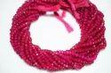 Hot Pink Chalcedony Gemstone Beads Strand