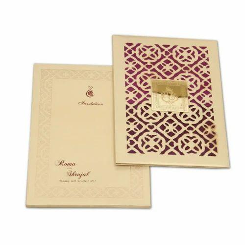 Wedding Invitation Card Printing Service, Dimension / Size