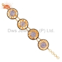 Fire Opal Gemstone Chain Bracelets Jewelry
