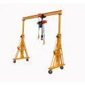 Yellow Single Girder Gantry Crane, Boom Length: 3000 Mm, Capacity: 1000 Kg