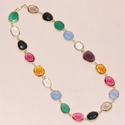 Nanplanetsilver 925 Sterling Silver Semi Precious Gemstone Bezel Set Necklace Rs 1500 Piece Id 13483049488