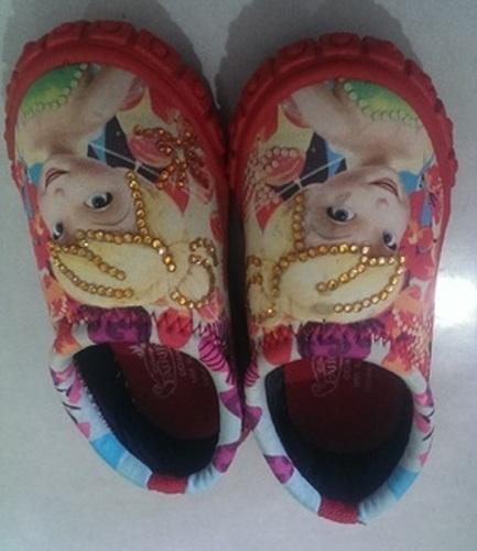 P Foot Party wear Printed Baby Kids Shoes