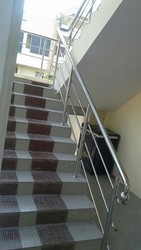 Round Stainless Steel Handrail, For Home