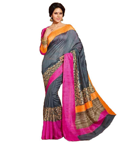 4b7dd3b07ad235 Stylish Bhagalpuri Saree - View Specifications   Details of ...