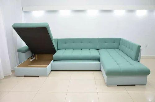 U Shape Sofa Cum Bed Inside 2 Storage At Rs 49999 /Piece | Sofa