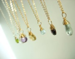 Wire Wrapped Gemstone Necklace