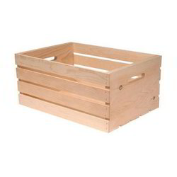 Rectangular Fruits Pine Wood Packing Crate, For Packaging