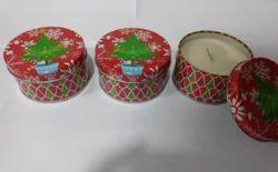 Christmas Tin Candles