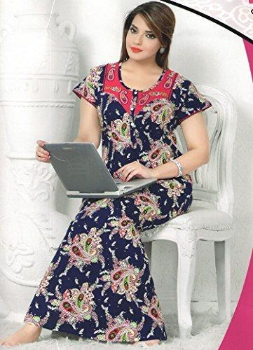 Cotton Paisley Print Nighties Size S M L Rs 125 Pieces