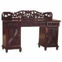 Brown Antique Polished Surajmukhi Designed Table
