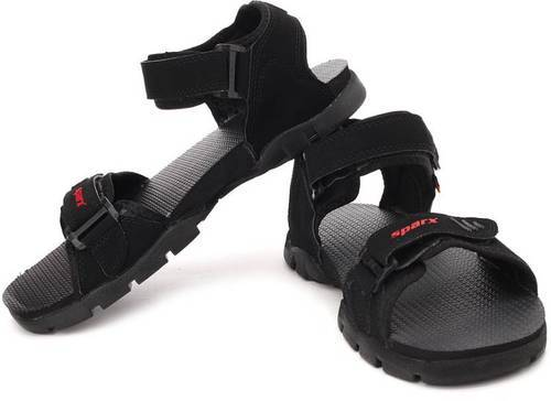 Sparx Mens Black Sandals, Mens Sandals