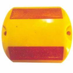 黄色,红色ABS车身道路铆钉,高速公路,交通管制