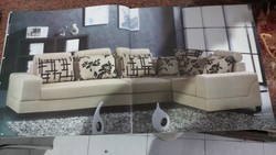 Wood Modern L Shape Sofa