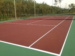Synthetic Acrylic Sports Flooring Service, 1.5mm To 5mm