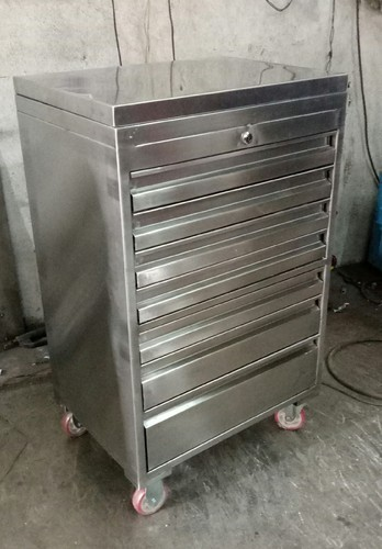 SS Seven Drawer Tool Trolley