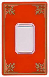 Silver Bar Packaging Card