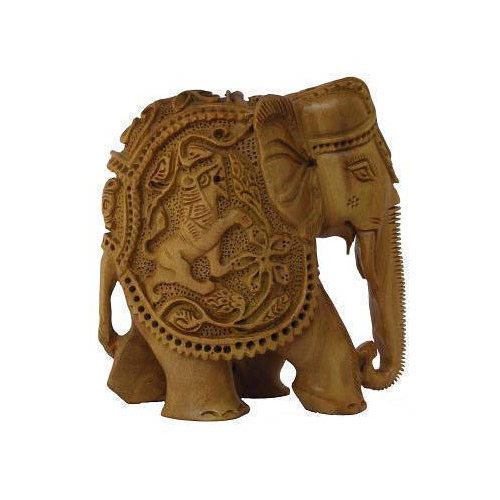 Other Asian Antiques Dependable Vintage Elephant Wooden Carved Figure Antiques
