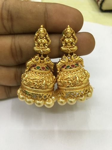 0d68ffbb5 Temple Jewellery Lakshmi Earrings at Rs 670 /pair | Temple Jewelry ...