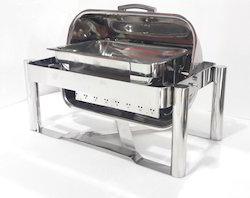 Chafing Dish - Rectangular Roll Top 4-5 Lit. Cap.