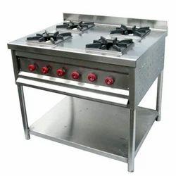Stainless Steel Four Burner Gas Range