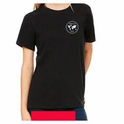 Monzter Popcornz Plain Black Ladies T Shirt