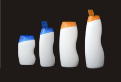 Flip Top White Shampoo Bottle